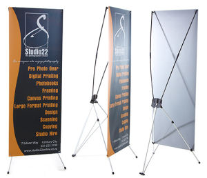 Trade Exhibition Mock-up Banner and Plexi Display Stands pictures & photos