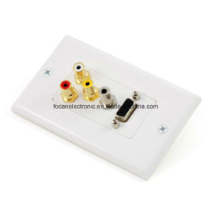 VGA + 3.5mm Audio + 3 RCA Wall Plate pictures & photos