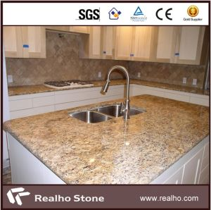 Brazilian Gold Light Giallo Santa Cecilia Granite Countertop and Vanity Top pictures & photos