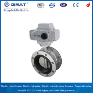 Flange Type EPDM Seat Cast Steel Electric Butterfly Valve pictures & photos