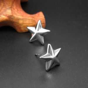 316L Stainless Steel Star Stud Earrings Unisex Fashion Accessories pictures & photos
