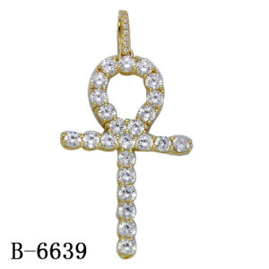 Hip Hop Jewelry Silver Diamond Cross Pendant Factory Wholesale pictures & photos