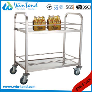 New Design Hot Sale 2 Tier Square Tube Wagon Trolley with TPR Wheel pictures & photos