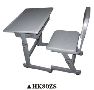 Simple Plastic Furniture Desk and Chair Set for Student pictures & photos