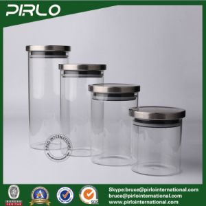 400ml 500ml 600ml 700ml 900ml 1300ml 1800ml Borosilicate Glass Jar with Sealing Stainless Lids pictures & photos