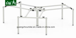 Office Furniture Small Triangular Meeting Table with Metal Leg pictures & photos