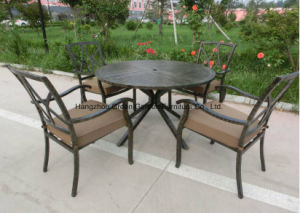 Patio Furniture Conversation Set Round Dining Table with Arm Chair pictures & photos