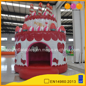 Happy Birthday Cake Inflatable Bouncer Red Mini Bouncer Advertising Bouncer (AQ02368) pictures & photos