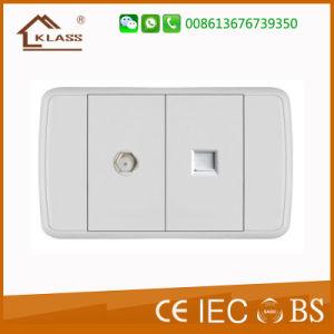 White PC Panel Satelite Tel/Computer Socket pictures & photos