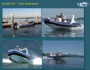 Liya 5.2m Small Fiberglass Inflatable Ferry Boat for Sale pictures & photos