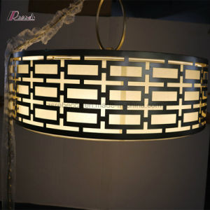 Decorative Metal Pendant Lamp with Linen Shade for Hotel pictures & photos