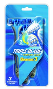 Home Shaving Triple Blade Plastic Disposable Razor pictures & photos