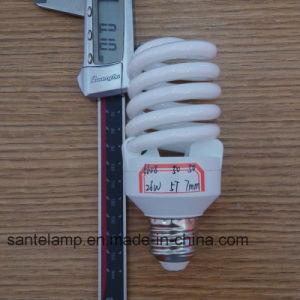 24W 26W Full Spiral 3000h/6000h/8000h 2700k-7500k E27/B22 220-240V CFL Down Price pictures & photos