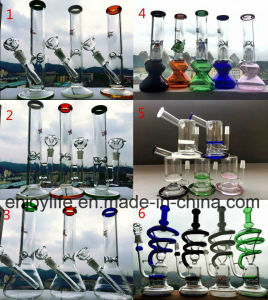 Mix Designs 10 Inches Handcrafted Arm Tree Base Beaker Spiral Vortex Coil Recycler Glass Pipe pictures & photos
