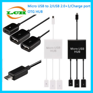 Micro-USB to Charge Data 3*USB OTG Adapter for Android Phone/Tablet pictures & photos