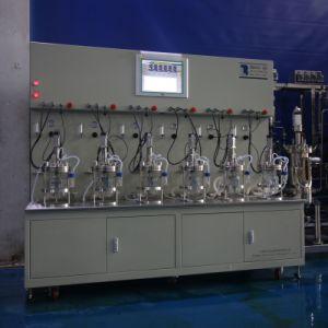 Six Union 2 Liters Glass Bioreactor (Double-walled glass jacket wave)