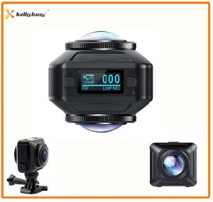 WiFi Wireless Dual Lens Vr Action 360 Camera, Camera 360, 360 Degree Panoramic Action Camera pictures & photos