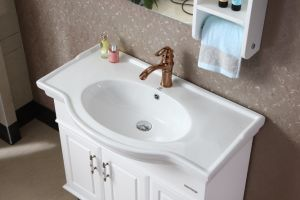 Modern Style Solid Wood Bathroom Cabinet pictures & photos