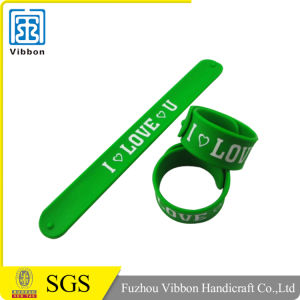 Factory Directly Custom Design Silicone Rubber Slap Bracelet