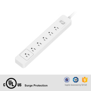 6 AC Outlets Us Type Wall Mount Long Power Supply with Surge Protector Home Use Power Strip pictures & photos