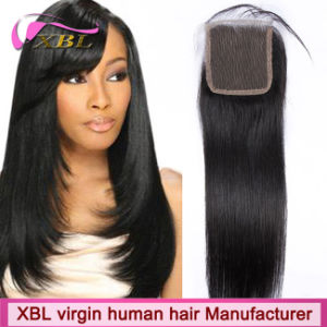 Unprocessed Brazilian Human Hair Natural Virgin Hair Lace Closure pictures & photos