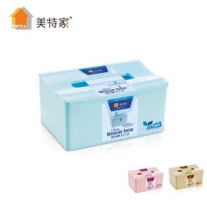 Metka Household Large Plastic Adjustable Tissue Box Napkin Box pictures & photos