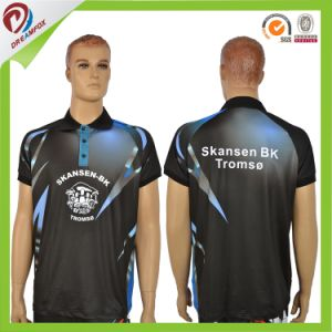 Breathable 100% Polyester Sublimation Print Quick Dry Custom Men Polo Shirt pictures & photos
