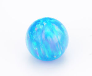 Round Ball Shape Blue Green Synthetic Fire Opal pictures & photos