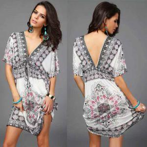 Fashion Long Sleeves Rayon Beautiful Women Kaftan (Xy00115) pictures & photos