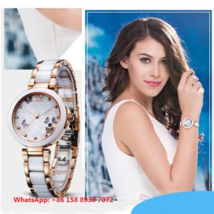 Graceful Lovely Quartz Women′s Watch with Ceramic Strap Fs656 pictures & photos
