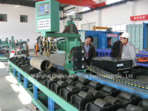 Pipe Prefabrication Flame Cutting and Bevel Roller Bench pictures & photos