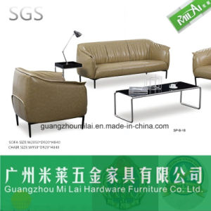 Modern Leisure Sectional Leather Sofa with Metal Leg pictures & photos