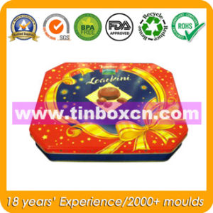 Octagonal Chocolate Cookie Tin with Food Grade, Biscuit Tin Can pictures & photos