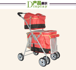 High Quality Dog Stroller Double Layers Pet Twins Outdoor Stroller pictures & photos