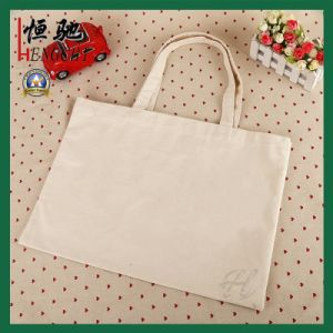 Square Shape Flat 100% Cotton Women Handbag for Shopping pictures & photos