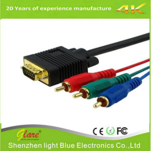 3RCA Component RGB to VGA Video Cable pictures & photos