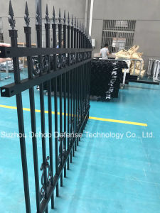 New Style Decorative Black Powder Coated Garden Fence pictures & photos