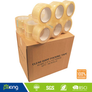 Adhesive Clear Packaging Tape 6 Rolls Per Pack pictures & photos