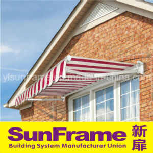 Retractable Red Remote Control Awning pictures & photos