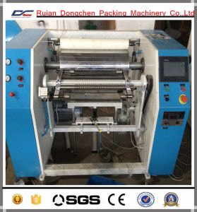 Semi Automatic PVC Cling Film Slitting Rewinding Machine (DC-1300F) pictures & photos