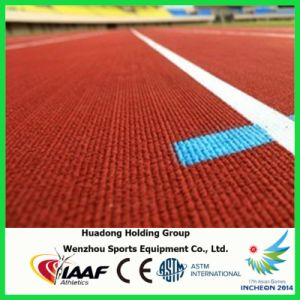 Rubber Running Track Manufacturer, Prefabricated Synthetic Athletic Track for 400 Meters Standard Sports Field pictures & photos