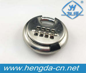 Yh1808 Stainless Steel Round Digital Password Disc Combination Padlock pictures & photos