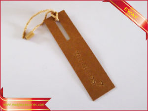 Women Clothing Printed Paper Hang Tag with Ribbon pictures & photos