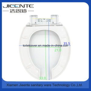 Plastic Toilet Seat and Cover with Open Front for Disabled pictures & photos