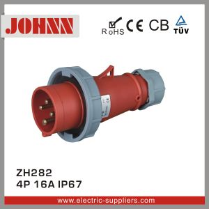 IP67 4p 16A Plug for Industrial pictures & photos