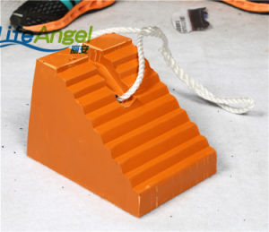 Durable Orange Color Rubber Wheel Chocks Made in China
