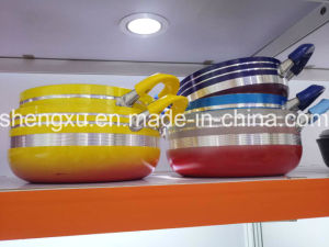 Coated Alloy Aluminium Non-Stick Frying Pan Pot Stockpot for Cookware Sets Sx-Yt-A021 pictures & photos