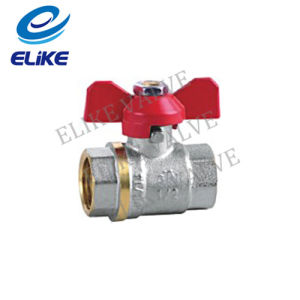 "1/2-1"" Brass Ball Valve with Butterfly Handle"