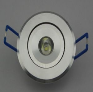 1W LED Ceiling Down Light Lathe Aluminum Alloy 2 Year Warranty