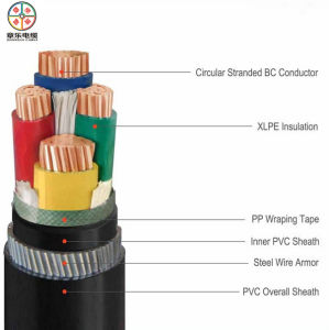 Factory Price XLPE Cable, Steel Wire Armoured Cable 4*150mm2